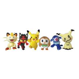 "Pokemon 8"" Plush assortment W1 display (6pieces)"