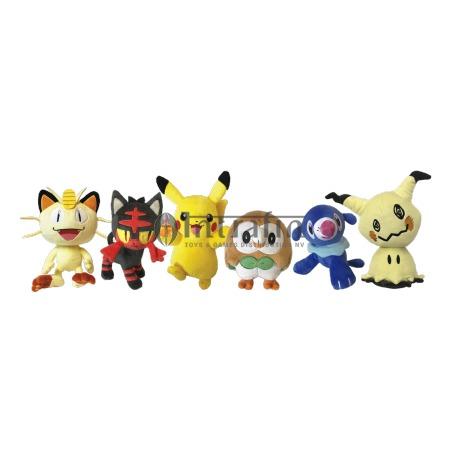 "Pokemon 8"" Plush assortment W1 display (6pieces)"