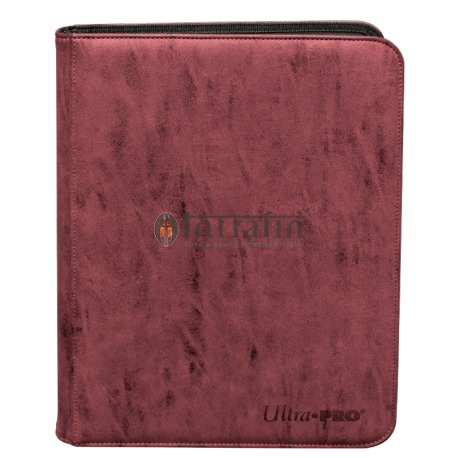 Zippered Pro Binder 9-Pocket Suede Collection Ruby