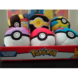 "Pokemon 4"" Poke Ball Plush display (6pieces)"