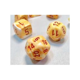 Festive™ 12mm d6 w/pips Sunburst™ w/red Dice Block™ (36)