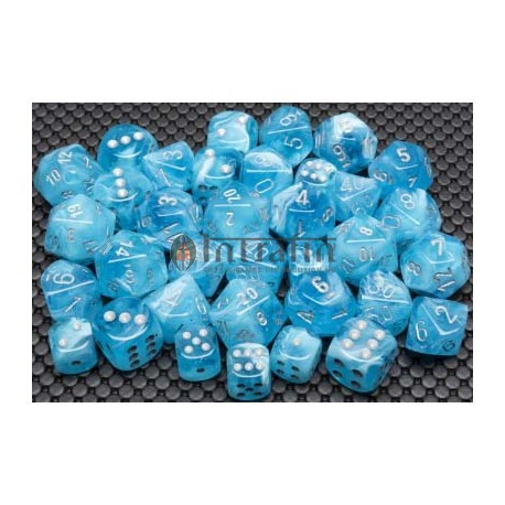 Luminary™ Sky/silver 12mm d6 Dice Block™ (36)
