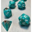 Marble 16mm d6 Oxi‑Copper™/white Dice Block™ (12)