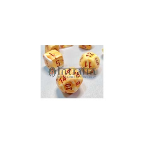 Festive™ 16mm d6 w/pips Sunburst™ w/red Dice Block™ (12)