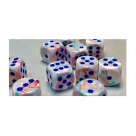 Festive Polyhedral 16mm d6 Pop Art /blue Dice Block™ (12)