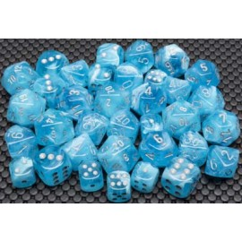 Luminary™ Sky/silver 16mm d6 Dice Block™ (12)
