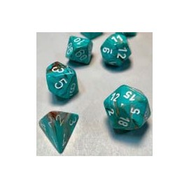 Marble Oxi‑Copper™/white Set of Ten d10's