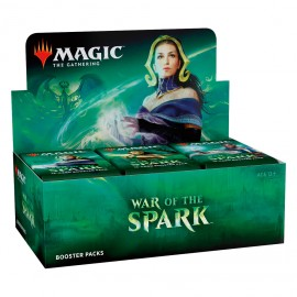 MTG War of the Spark Booster display (36) Russian