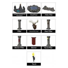 WizKids Miniatures: Fantasy Terrain: Painted Pools & Pillars (Set 1)