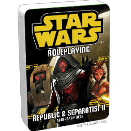 Star Wars RPG Republic & Separatist II Adversary deck POD