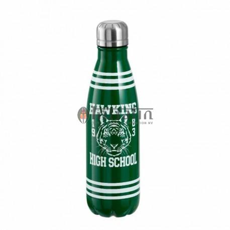 Water Bottle in metal Stranger Things: Hawkins High School
