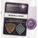 Vindication Metal Threshold Medallions