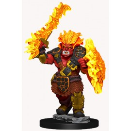 Wizkids Wardlings Painted Miniatures: Fire Orc & Fire Centipede