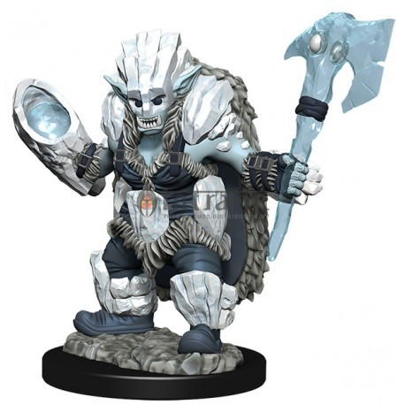 Wizkids Wardlings Painted Miniatures: Ice Orc & Ice Worm
