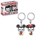 POP Keychain: Disney-2PK- Mickey & Minnie (Exc)