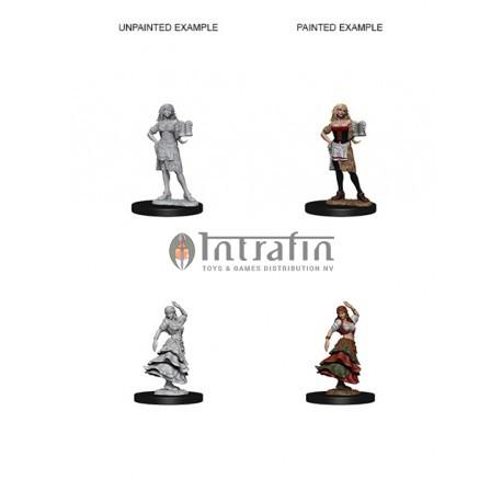 Pathfinder Battles™ Deep Cuts™ Unpainted Miniatures: Bartender/Dancing Girl