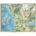 """Dungeons & Dragons """"Faerûn"""" - Realm and Sword Coast Map (27"""" x 32"""")"""