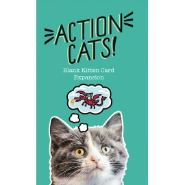Action Cats Blank Card