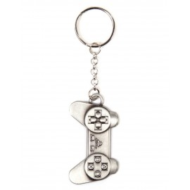 Playstation controller metal keychain