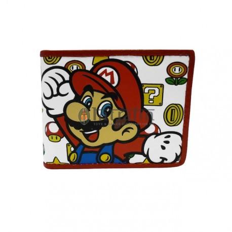 Nintendo - Mushroom Patern with Mario Bifold Wallet