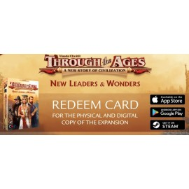 Through the Ages: New Leaders & Wonders REDEEM CARD
