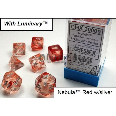 Nebula TM Red/silver 7-Die Set