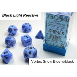 Vortex Snow Blue/black 7-Die Set