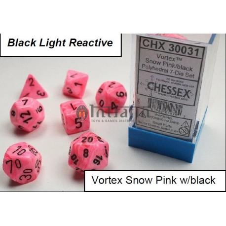 Vortex Snow Pink/black 7-Die Set