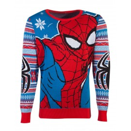 Marvel - Spiderman Knitted Unisex Jumper - L