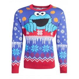 Sesamestreet - Cookiemonster Knitted Unisex Jumper - M