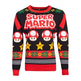 Nintendo - Super Mario Knitted Christmas Jumper - S