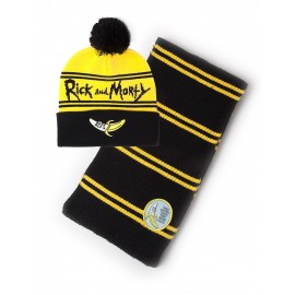 RICK AND MORTY - BANANA BEANIE & SCARF GIFT SET