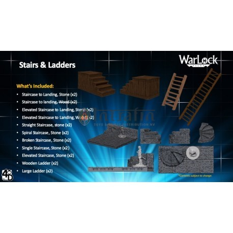WarLock™ Dungeon Tiles: Stairs & Ladders