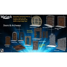 WarLock™ Dungeon Tiles: Doors & Archways
