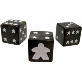 Meeple D6 Dice Set Black