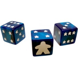 Meeple D6 Dice Set Blue