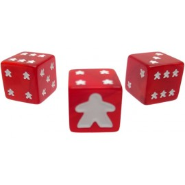Meeple D6 Dice Set Red