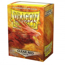 Dragon Shield Sleeves - Standard size - Matte 100: Clear Red 'Ignicip' (10x100)