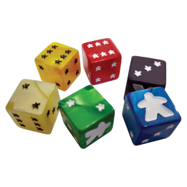 Meeple D6 Dice Set Yellow