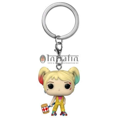 POP Keychain: Birds of Prey- Harley Quinn (Boobytrap Battle)