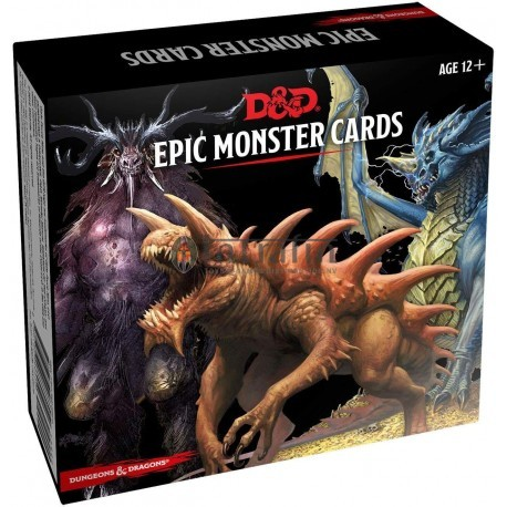 D&D Monster Cards - Epic Monsters (77 cards)