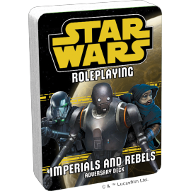 Star Wars Roleplaying: Imperials and Rebels III Adversary Deck POD
