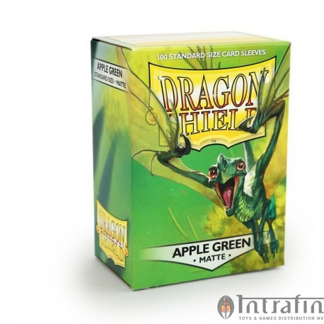Dragon Shield Matte - Apple Green (10x100)