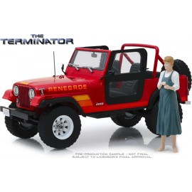 The Terminator- Sarah Connor's Jeep CJ-7 Renegade with Sarah figurine-1:18 Artisan Collection -