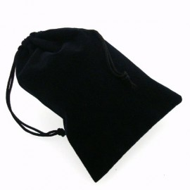 """Small Suedecloth Dice Bags (4"""" Wide × 6"""" Tall) - Black"""