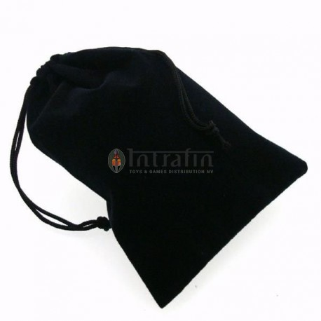 "Large Suedecloth Dice Bags (5"" Wide × 7"" Tall) - Black"