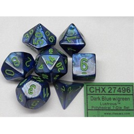 Lustrous™ Dark Blue w/green 7‑Die set
