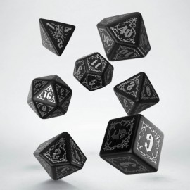 Bloodsucker Black & silver Dice Set