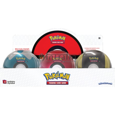 Pokémon Poké Ball Tin 2020 DISPLAY (6 pieces)