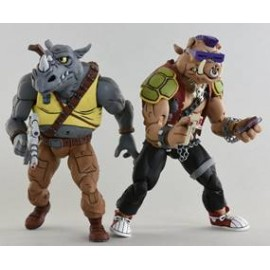 "Teenage Mutant Ninja Turtles – 7"" Scale Action Figure – Cartoon Series 2 Rocksteady and Bebop 2 pack"